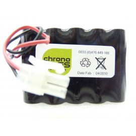 CHRONO PACK Batterie NiMh 12V - 1650mAh + Connecteur 2pts - Portes BESAM