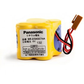 PANASONIC Pack pile lithium BR 2/3 A - 6V - 2400mAh+ connecteur marron