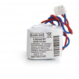CHRONO Pile Batterie Alarme Compatible LABEL CESAR BL950 - 1/2AA - 6.0V - 950mAh + Connecteur