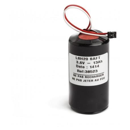 CHRONO Pile Batterie Alarme Compatible  LEGRAND 432 90 - D - LSH20 - 3,6V - 13,0Ah + Connecteur NOIR Centrale 432 14
