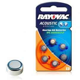 RAYOVAC Pile Bouton Zinc Air - 13AE Acoustic