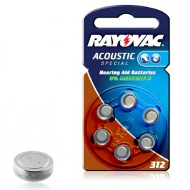 RAYOVAC Pile Bouton Zinc Air - 312AE Acoustic