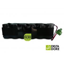 CHRONO Batterie Alarme TALCO / DELTA DORE - 6LR20 Alcaline - 9V - 18Ah + Connecteur